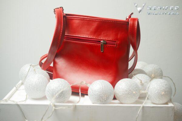 czerwona torebka damska carmen tył